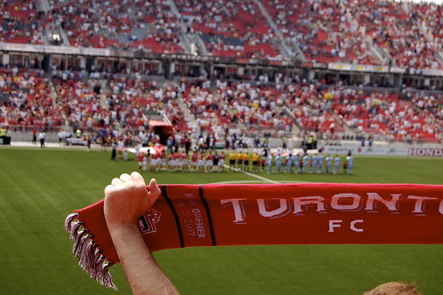 Raptors Fans or Toronto FC fans?  Last night's game had all the feel of a Euro soccer match...