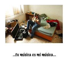 ...your music is my music... (angelferd) Tags: portrait people playing male guy person bed bedroom mess personal guitar room great walls intimate spaces intimacy chema espacios propios angelortega angelferd espaciospropios