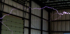 Nothing Shocking (jurvetson) Tags: purple lightning coil tesla volts zap shocking janesaddiction makerfaire makerfaire2007