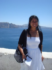 Me in Oia, the prettiest village in Santorini!