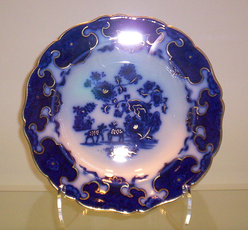 cobalt blue plate