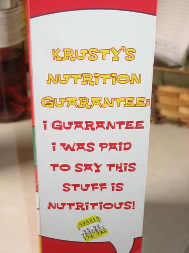 Nutrition guarantee