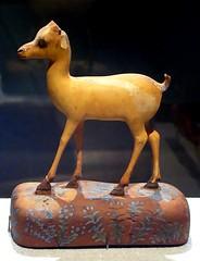 Ivory Gazelle from Thebes (ggnyc) Tags: nyc newyorkcity egypt ivory carving met gazelle thebes metropolitanmuseumofart ancientegypt egyptology egyptianart naturalism egyptianwing dynasty18
