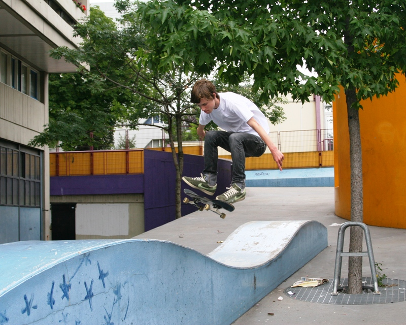 Skateboarding Paris 3