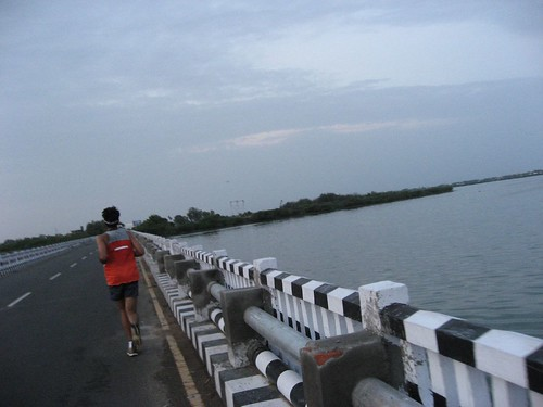 Shumit across Muttukadu bridge