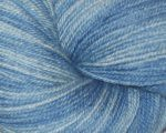 Rubina's Blue Sky Happiness BFL Sock Yarn - NATURAL Indigo dyed - 4 oz (WW)