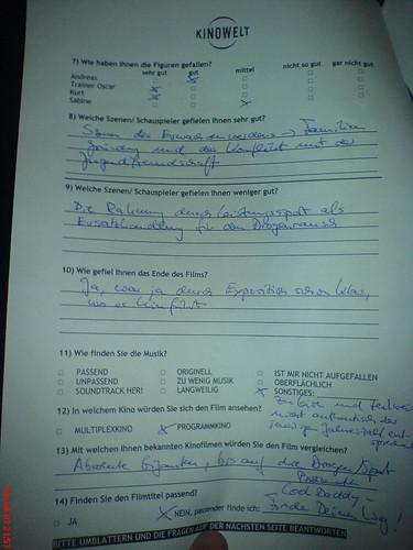 Testscreening Fragebogen