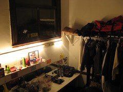 pre-show drag king show dressing room corner