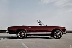 DSC_0016 (romanraetzke) Tags: auto autumn red rot classic car digital nikon colours d70 parking hamburg herbst convertible 2006 september chrome mercedesbenz oldtimer chrom farben cabriolet parkhaus pagode mundsburg 230sl klassiker
