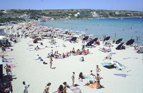 Mellieha bay playa malta