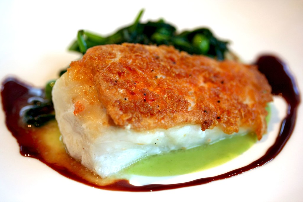 Cod Fish encrusted with shrimp and panko