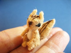 tiny squirrel (ccyytt) Tags: animal toy stuffed squirrel handmade craft sew felt softie tiny