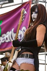 Kim Racer (Belltown) Tags: seattle music lace live hardrock whiteface fishnetstockings misscrazy hempfest2007