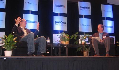 Jim Lanzone of Ask.com and Chris Sherman