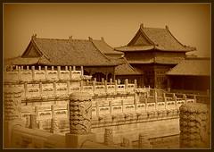 Forbbiden City. Beijing (makita ^) Tags: china sepia asia beijing roofs tejados pekin ciudadprohibida forbbidencity flickrsbest anawesomeshot blackribbonbeauty excapture proudshopper theperfectphotographer