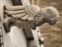 Parrot Gargoyle & Lion Head Frieze At 2101 Connecticut Avenue, NW (Washington, DC) - by takomabibelot