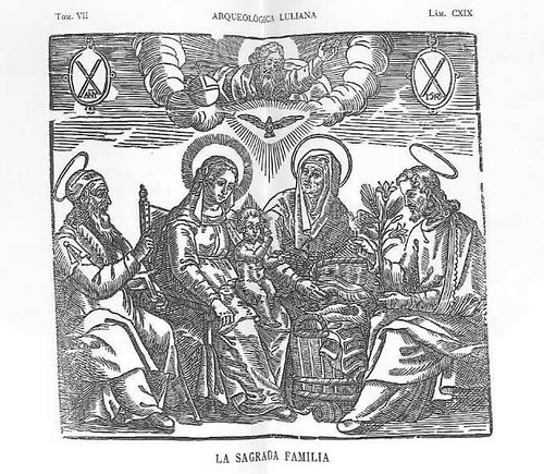 Xilografía de La Sagrada Familia