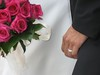 white bouquet black bouquet white ring black ring wedding photo