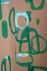 and no two shapes of the pieces are alike.. (denise carbonell) Tags: original urban sculpture woman newyork art mobile modern brooklyn design aqua outsiderart designer recycled handmade turquoise