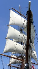 Star of India Sails and Rigging at San Diego Harbor in California (Scandblue) Tags: california travel usa white tourism america harbor sailing waterfront sandiego harbour ships sails historic mast southerncalifornia tallships rigging elegance starofindia portofsandiego