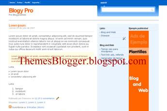 plantilla para blogger