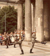 Changing of the Wachregiment guards, Neue Wache, East Berlin, 1984 (Joel Abroad) Tags: berlin germany neuewache vopo volkspolizei
