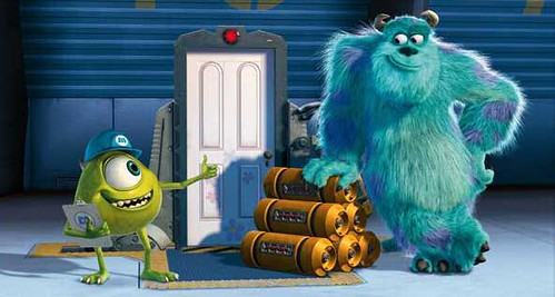 Portal 2 Sully and Mike Wazowski from Monsters Inc