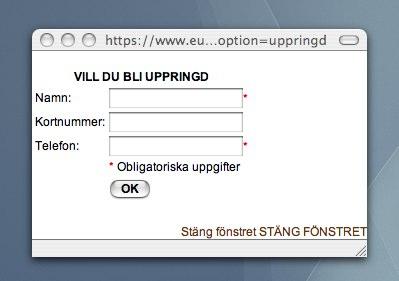 Eurocard screenshot