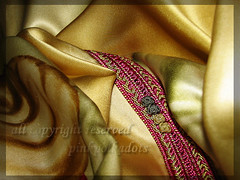 (_pinkpolkadots_) Tags: pink golden purple silk cloth