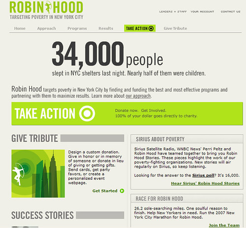 Robin Hood Foundation homepage