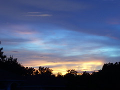 7:20pm (#613) (38 LN 38) Tags: blue sunset wallpaper sky black color nature yellow clouds personalfavorite frontyard desktopwallpaper sunsetwallpaper