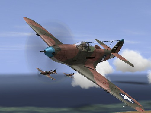 Warbird picture - P-39's on Patrol