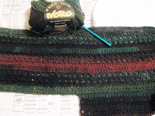Noro crocheted vest