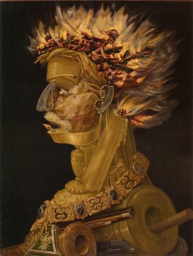 006-El fuego  1566-los cuatro elementos-Giuseppe Arcimboldo