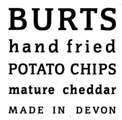 Burts crisps typography
