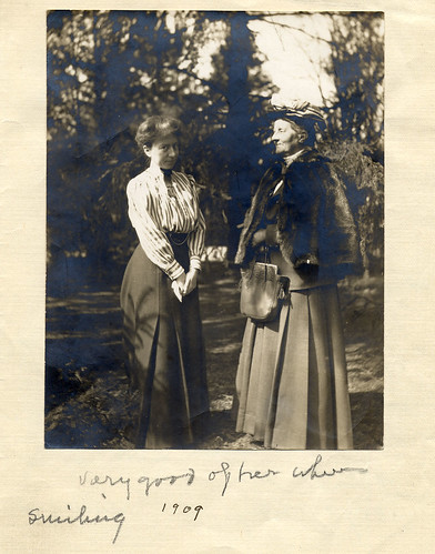 Professor of Physics Mary Whitney '68 (right) with Professor of Psychology Margaret Floy Washburn '91 (left) in 1909.
