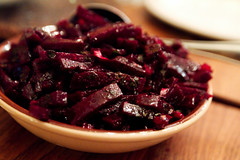 Beet with onion and parsley