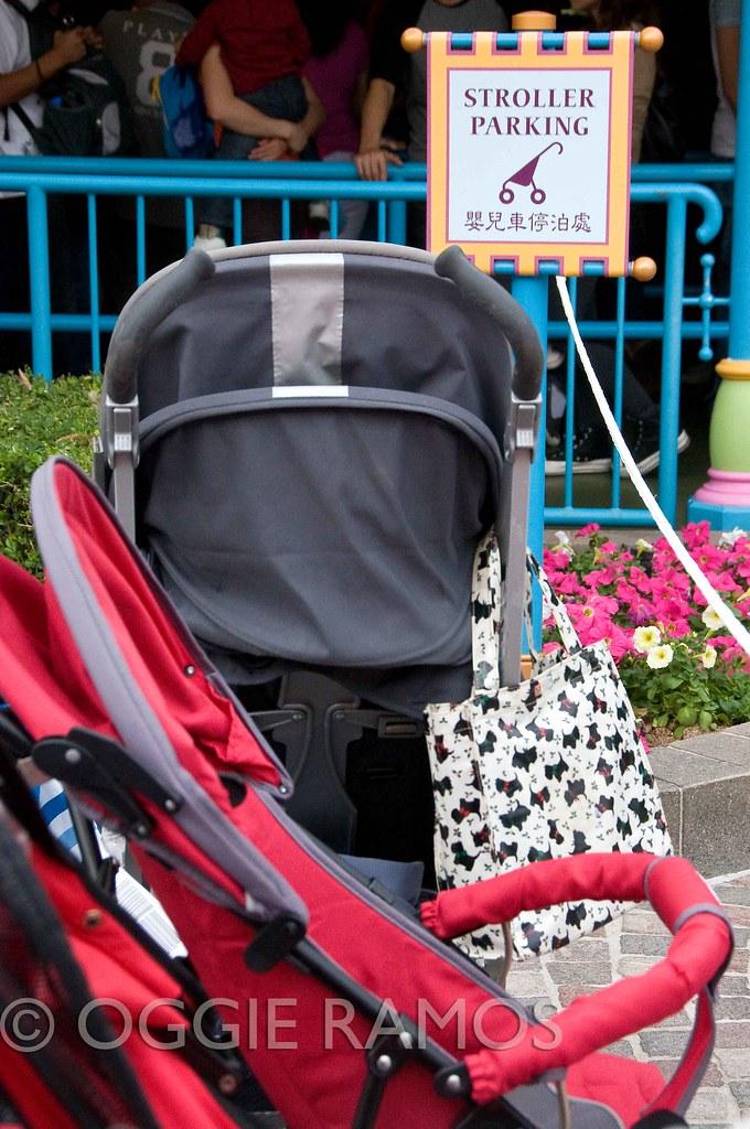 HK Disneyland - Stroller Parking