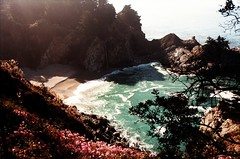 (Maddie Joyce) Tags: ocean california road park trip sea mountains bus film beach boyfriend nature vw 35mm canon eos coast waterfall maddie big waves state trevor surfer magic north young adventure gordon joyce sur redwoods traveling campervan vanagon grilfriend surfinf wwwthemagicbuscollectivecom