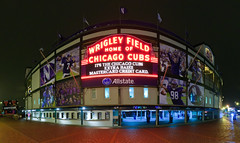 Purple Marquee (The New No. 2) Tags: november chicago game classic sign marquee football illinois gbrearview stadium il clark illini wrigleyfield northwestern addison 2010 wildcats univeristyofillinois chicagoist johncrouch johncrouchphotography crouchphotos