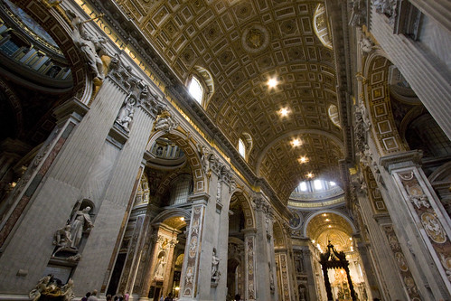 Inside St Peter's Basilica by Lawrence OP, on Flickr
