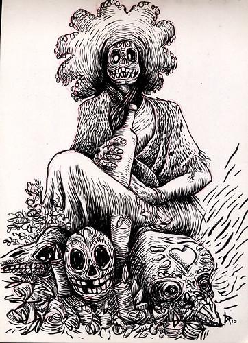 Dibujo Madrid - El día de los muertos