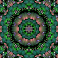 Flame Fractal Kaleidoscope (Ate My Crayons) Tags: abstract green art digital altered abstractart digitalart gimp kaleidoscope mandala symmetry computerart fractal amc thegimp kaleidoscopic kaleidoscopes fractalart flamefractal artdigital mathmap gimpart kaleidoscopesonly artgimp