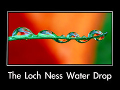 The Loch Ness water drop - by Steve took it