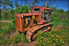 Little Caterpillar (A guy with A camera) Tags: tractor canada cat construction nikon rust diesel farm machine rusty sigma equipment caterpillar alberta heavyequipment 1020 hdr crawler supershot d80 outstandingshots rd6 anawesomeshot impressedbeauty