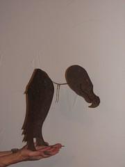 Melinda's vulture sculpture