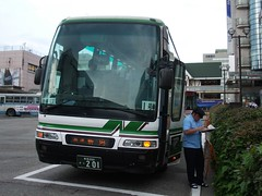 新潟行き高速バス@富山駅前