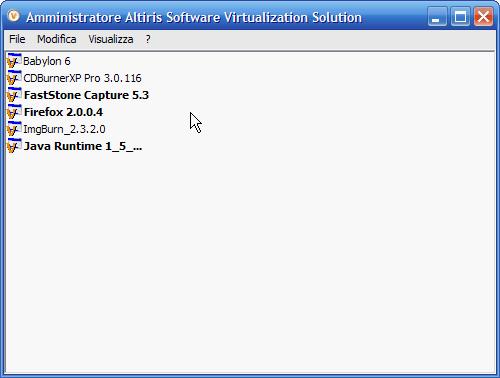 SVS - aggiornamento alla versione 2.1 in italiano: schermata del programma