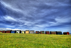 Beach huts, Portland Bill 4pm 070707 (petervanallen) Tags: unicef portland unitedkingdom bbc dorset 070707 britaininpictures bbcredbutton petervanallen