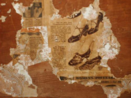 wallpaper newspaper. 1800#39;s Newspaper was used as